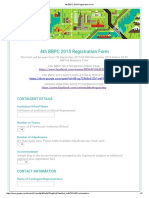 4th BBPC 2015 Registration Form