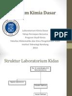 Pengarahan Praktikum Kimia Dasar Semester 1 Tahun 2013