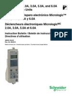 SCHNEIDER Unidades de Disparo Electrónico Micrologic-InSTRUCCIONES