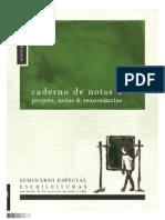 Heuser (2011) Caderno de Notas 1 Projetos Notas e Ressonâncias