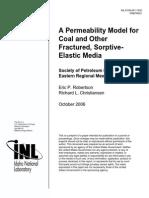 A Permeabilit Model for Coal
