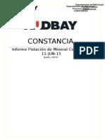 Informe Nº 005 Flotaciòn de Mineral Composito 11-JUN-15
