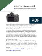 Thông tin trên máy ảnh canon 6D