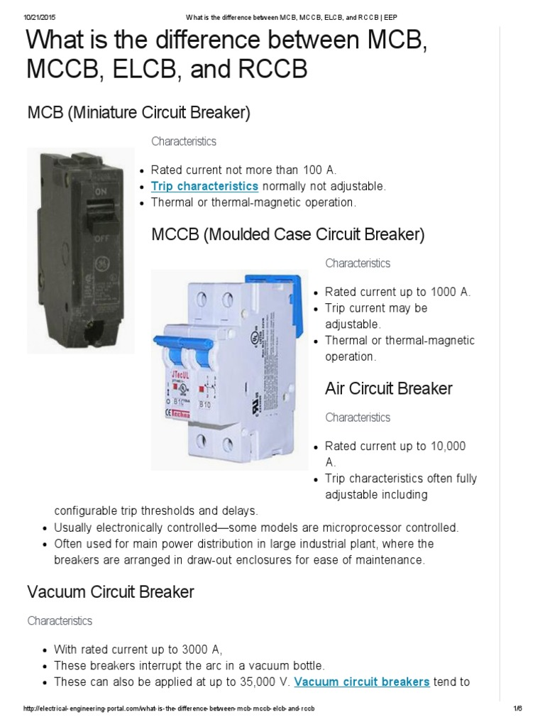 Circuit Breakers Fuse Electrical Electromagnetism Control Power For The Breaker S