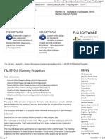 CM PE 910 Planning Procedure