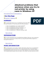 How to Troubleshoot Problems That You May Experience When You Try to Print to a Local Printer by Using Office Programs in Windows XP