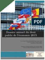 L'Année du Droit Public Economique de l'AMDPAS