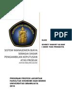 Manajemen Biaya Untuk Pengambilan Keputusan Stratejik Produk