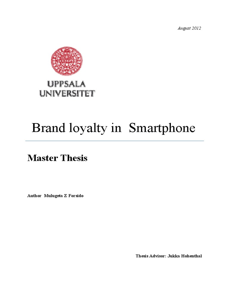 Master thesis customer relationship