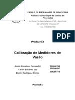 relatório 3 - Calibração de medidores de vazão.docx