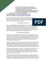 Resolución de Admisión 2010-2011