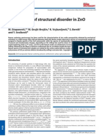 Raman study of structural disorder in ZnO nanopowders