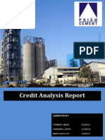 Credit Report Prism Cement