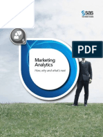 SAS Marketing Analytics - How, Why and What's Next