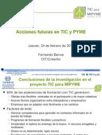 4 - Acciones Futuras en TIC y PYME - FB