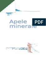 proiect apa minerala