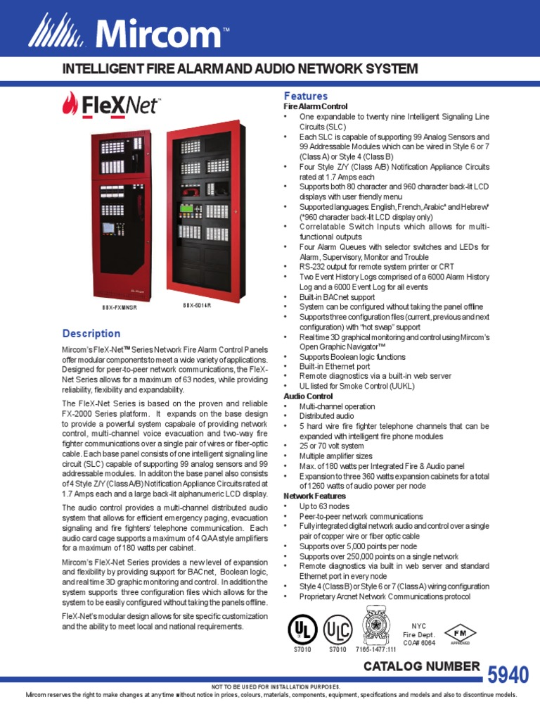 1509227699 cat 5940_flex net_intelligent_fire_alarm_and_audio_network_system mircom fx 2000 wiring diagram at fashall.co