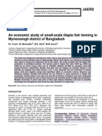 An economic study of small-scale tilapia fish farming in Mymensingh district of Bangladesh