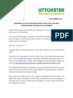 Uttoxeter Racecourse Festive Family Raceday