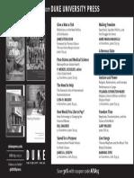 Duke University Press program ad for the African Studies Association conference 2015