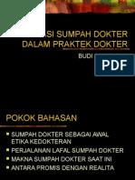 Aplikasi Sumpah Dokter Dalam Praktek Dokter