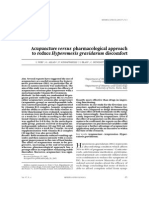 Acupuncture Versus Pharmacological Approach