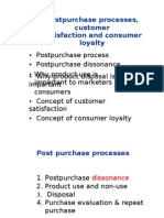 Postpurchase and Custome Rsatisfaction and Loyalty