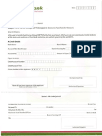 TBL Fund Transfer BEFTN Application Form