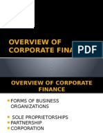 Overview of Corporate Finance