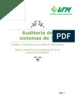 Fases y elementos de la planeación en la auditoria informática.