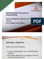 VA Administracao Financeira e Orcamentaria Aula 2 Tema 2