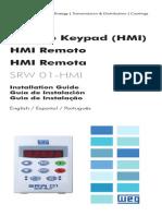 WEG Srw 01 Hmi Interface Homem Maquina 0899.5827 Guia de Instalacao Portugues Br