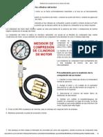 Medición de La Compresión de Los Cilindros Del Motor