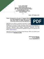 Advt for Recruitmnet