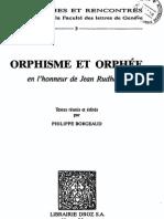 Borgeaud, Orphisme Et Orphée