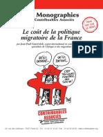 Le coût de la politique migratoire de la France