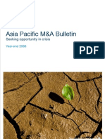 Asia Pacific M&a Bulletin Year End 2008