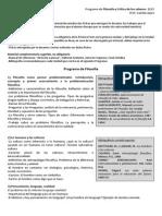 Programa 2015. 1º BD