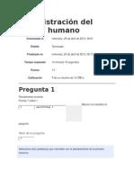 Autoevaluacion U1 Administración Del Capital Humano