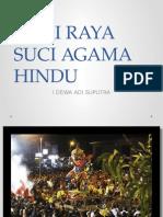 Hari Raya Suci Agama Hindu