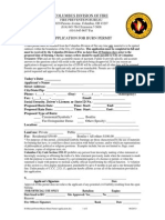 Master Burn Permit Application