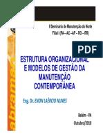 Modelos de Gestão de Manutenção