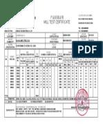 Aluzinc MTC-mill Test Certificate