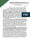 Full Gospel Lighthouse Church Newsletter April 2010