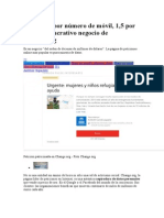 Seis Euros Por Número de Móvil, 1,5 Por Email - El Lucrativo Negocio de Change.org