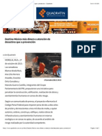 27-10-15 Destina México más dinero a atención de desastres que prevención