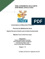 Español, Libro Para El Maestro y Para El Alumno de Primer Grado