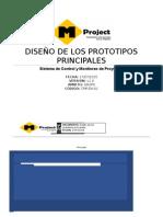 Diseño de Prototipos Principales Para Sistema de Gestión de Proyecto