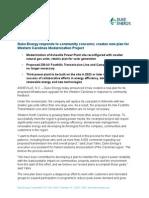 Duke Energy press release