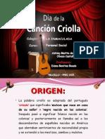 Dia de La Canción Criolla